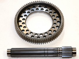 Bollverk 5.43 crown wheel & pinion, dog gearbox
