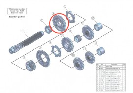 Secondary 3: output shaft 1st gear, 32 teeth: MB-2.1-32
