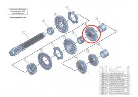 Secondary 9: output shaft 3rd gear, 29 teeth: MB-2.3-29